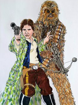 Han and Chewie by theClementine17