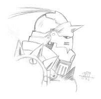 Alphonse Elric Sketch by RusimRedom