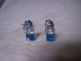 Cross and Star Earring Bottles by DoorStop1227