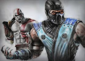 Kratos vs Sub-zero by MuhammedFeyyaz