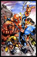 Avenging Spiderman cover battle by x-SAgi-x