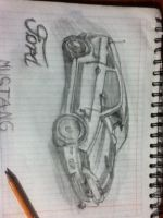 Mustang 2013 Drawing by Prototype-DA