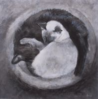 Ying Yang - Charcoal by AstridBruning
