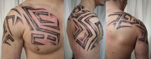 New Tribal Sleeve Tattoo by 2Face-Tattoo