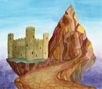 A Castle and a Mountain by ArtsyWright