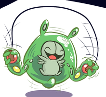 Happy Hoppy Reuniclus by Tess-27