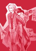 Joker and Harley Quinn by skylord1015