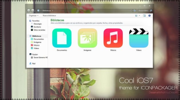 Cool iOS7 {Iconpackager} by DeserveWhatYouDream