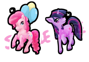 Twilight and Pinkie Pie Designs by Leefuu