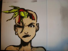tank girl stenciled by toxicmask