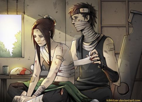 Zabuza and Haku: taking care of wounds by Kibbitzer