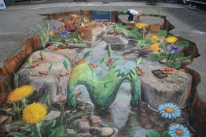 3D chalk drawings by jackmoonlight