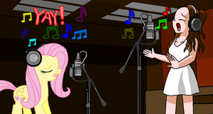 Fluttershy and Ariana Grande by Jarquin10