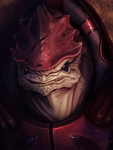 Mass Effect: Urdnot Wrex by ruthieee