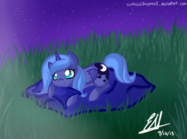 Chibi Luna: Show me how to raise the moon again! by XxNinjaUnicornxX