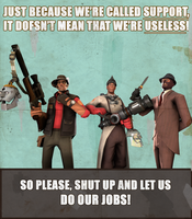TF2 Spray: Support the support classes by TheSpectral-Wolf