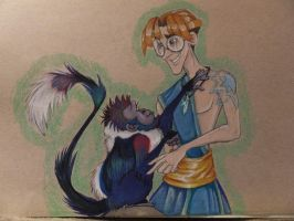 Milo and the Monkey: Atlantis by FoxDragonLover