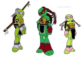 TMNT Talena, Larota and Amoly - Japan style - 3 - by joellejey