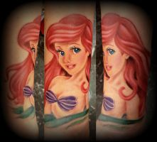 The little mermaid tattoo ariel by CalebSlabzzzGraham