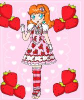 strawberrys daisy by ninpeachlover