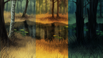Spruce Forest Background Pack by AlphaStryx