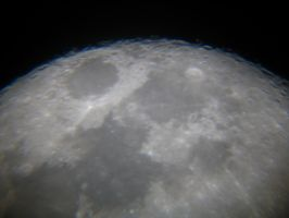 Moon 1 of 9 Waxing by Halo-Junky