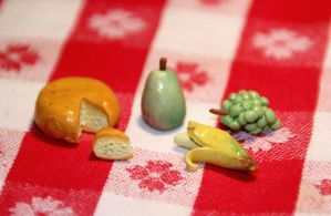 Polymer Food Miniatures by AliceWHatter
