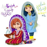 ash sharqiyah twins by sumana