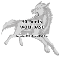 Shaded Wolf Base - 50 Points by The-Nutkase