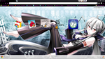 Yowane Haku Google Chrome theme by jrc1120