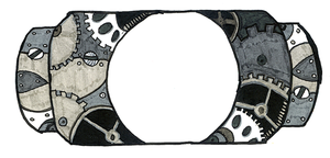 Steampunk PSP Cover WiP by FyreLilly