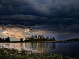 Before the Storm on the Island by AgilePhotography