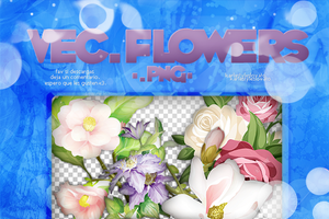 Recursos #4: Vectores Flowers .png by KarlaStylesLovato