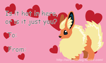 Flareon Valentines by SnakePrince