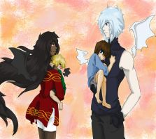 A family of dragons... by sapphirePuppylover
