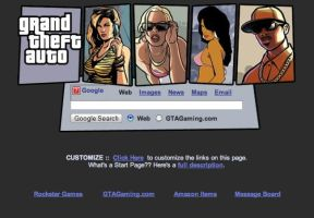 Grand Theft Auto Startpage by AwesomeStart