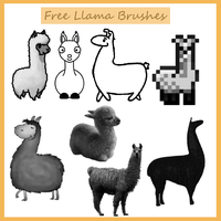 Llama Brushes by Blume-Art