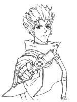 Vash lineart by SheWolff