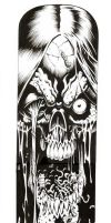 ZOMBIE skateboard deck by JerryBeck