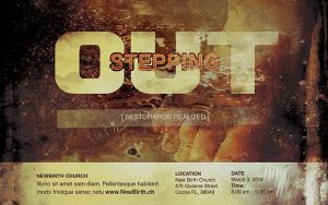 Stepping Out Church Flyer Template by loswl