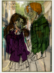 Ron\Hermione take a Stroll  Colored by Mairelyn