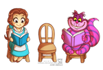 Belle and Cheshire Cat by daekazu