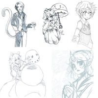 march 2015 Doodle Dump 3 by Centi