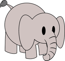 BABY ELEPHANT VECTOR by rich-jammer