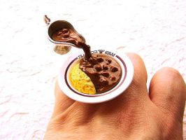 Kawaii Floating Ring - Curry by souzoucreations