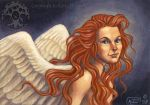 Red Haired Angel by Shadow-Wolf