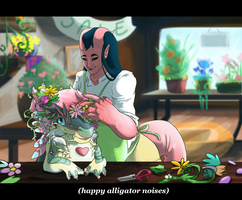 Flowers Anime by Appletail