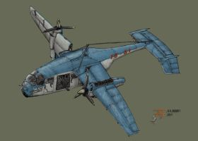 Chiron: Tilt Rotor Troop Carrier by plushman