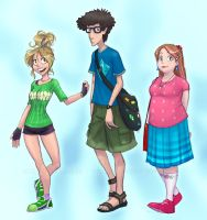 The same 3 people in colour by falingard