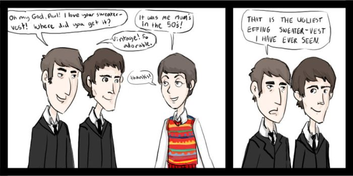 OMG Paul I love your sweater by hattyhatty